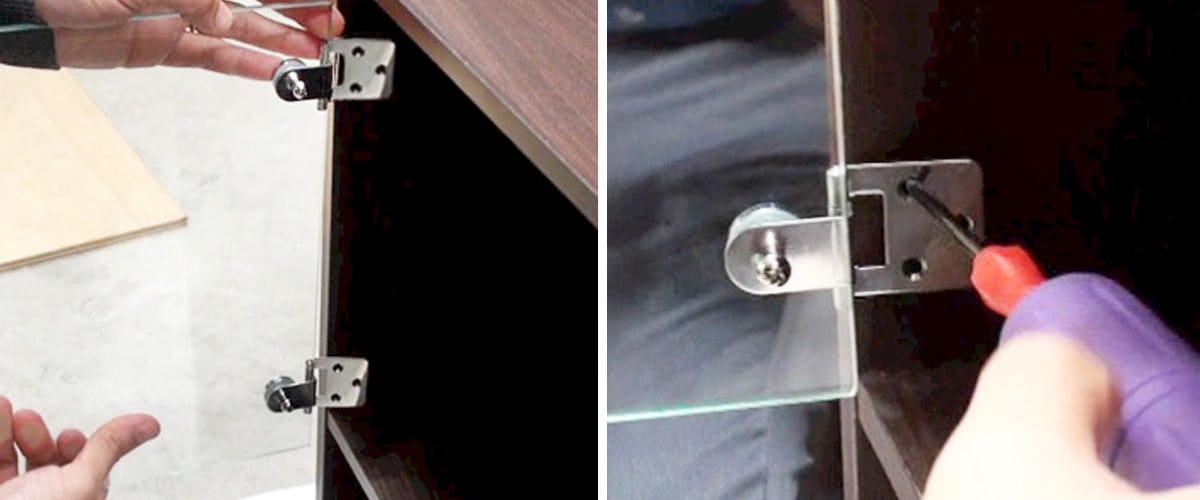 3. ガラス扉の取り付け位置を確認する
