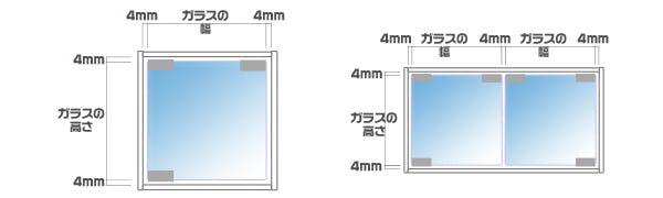 ガラス扉を作る場合のガラスのサイズについて