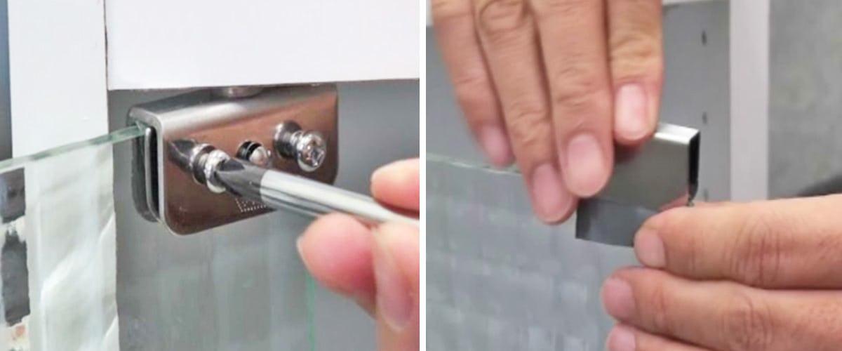 5. ガラスを固定する