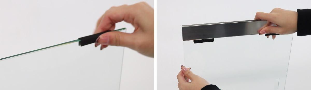 ガラス引き戸製作セット 取付方法