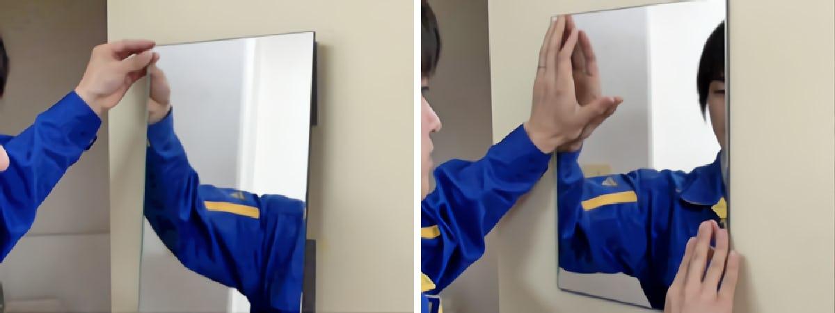 3.鏡を貼りつける