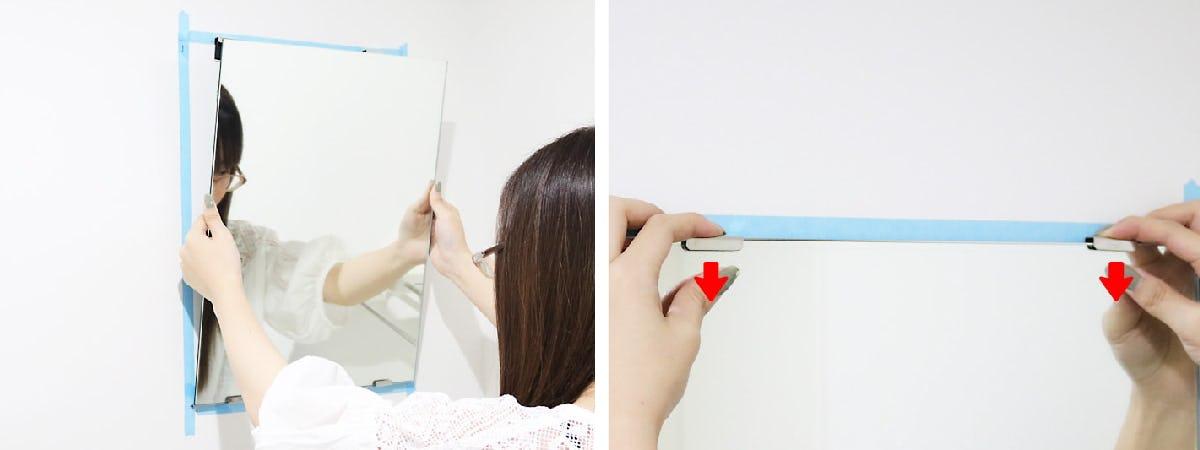 6.鏡を貼りつける