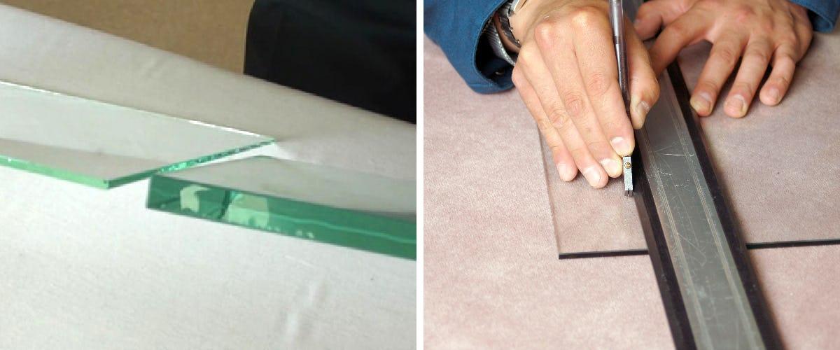 厚みのあるガラスの切り方