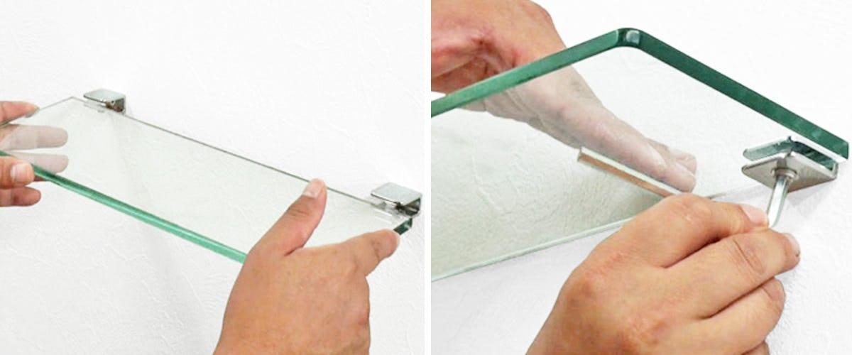 3. ガラス棚板を設置する