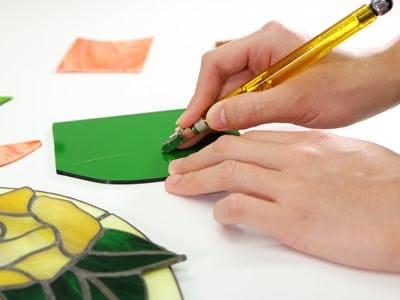 ガラスカッター曲線用 使用イメージ -1