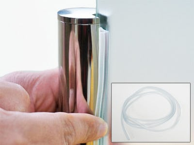 ガラス間仕切りポール専用ビート 使用イメージ