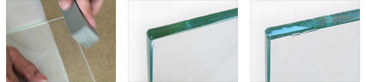 ガラス用砥石 3つの特徴(1)(2)(3)