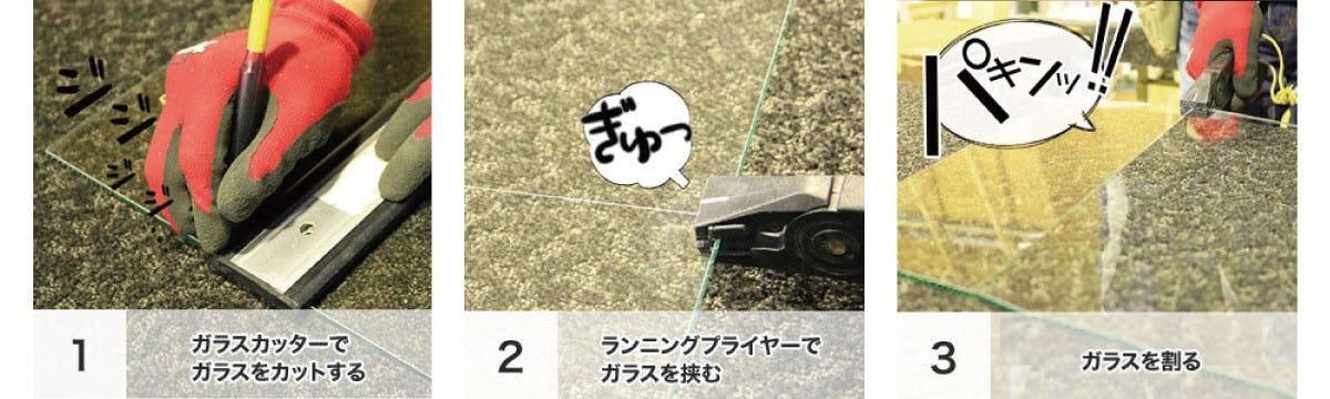 ランニングプライヤーの使い方 (1)(2)(3)